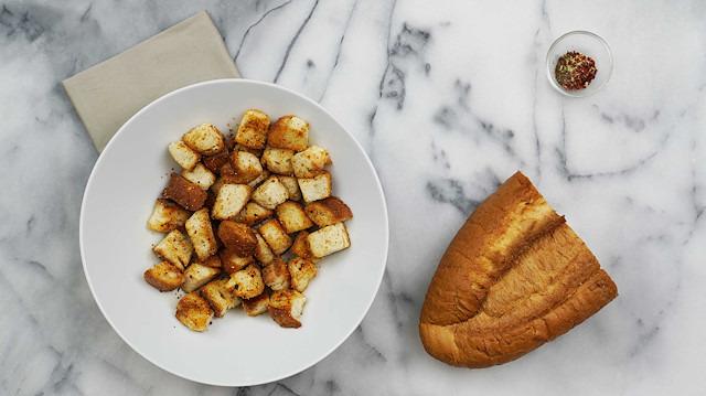 Çorbalık kıtır kruton nasıl yapılır?