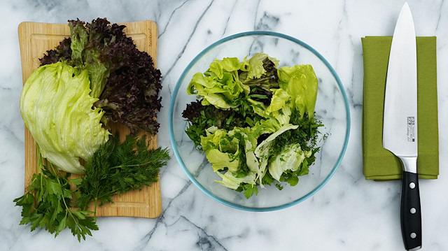 Yeşil Sebzeler nasıl doğranır?