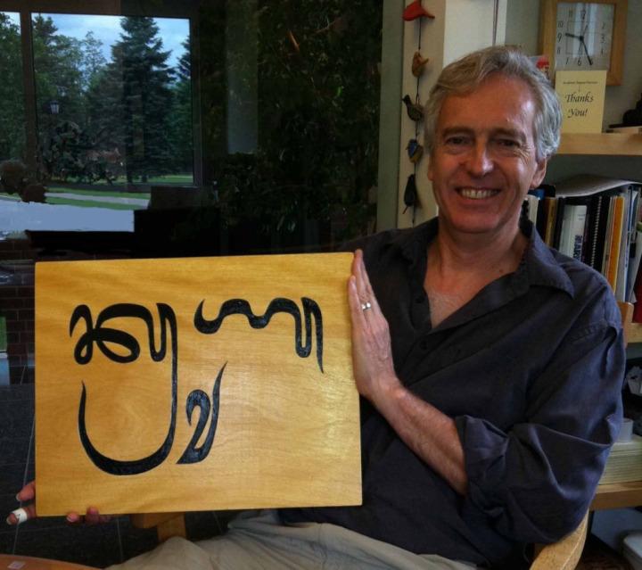 Dünyanın Nesli Tehlike Altındaki Alfabeleri Projesi kurucusu Tim Brookes.