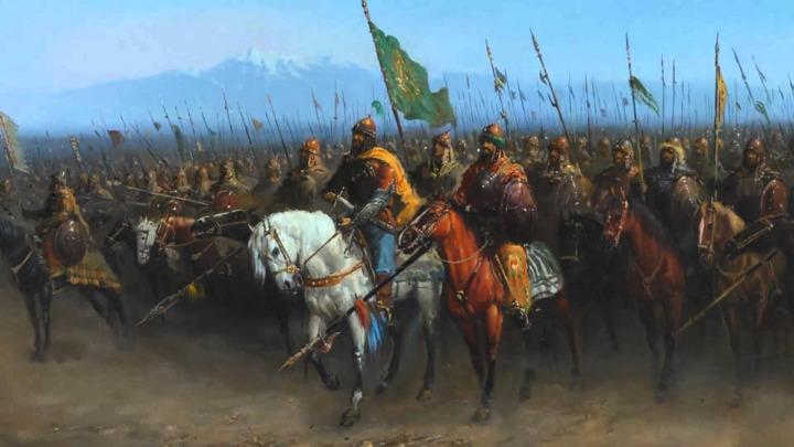 Moğol ordularının bir tasviri.