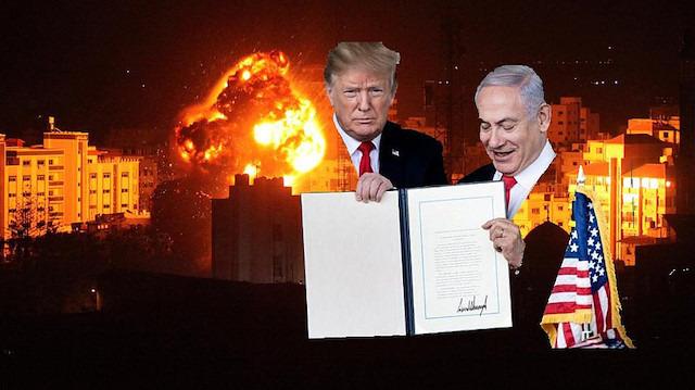 Dünyanın gözü önünde İsrail'in işgaline resmi onay