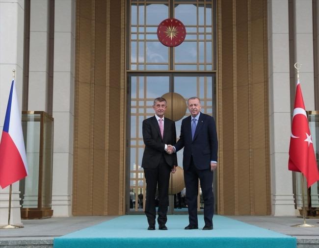 Andrej Babiš ve Recep Tayyip Erdoğan