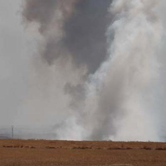 Tel Abyad'ta terör mevzileri vurulmaya devam ediyor