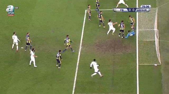 Fenerbahçe - Giresunspor maçında inanılmaz hakem hatası