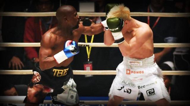 Yenilgisiz boksör Floyd'un 9 milyon dolarlık şovu