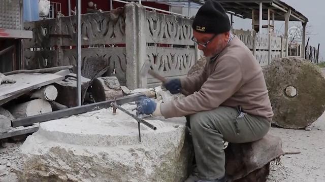 Leonardo Da Vinci'den ilham alarak taş işçiliğine başlayan Hasan Usta