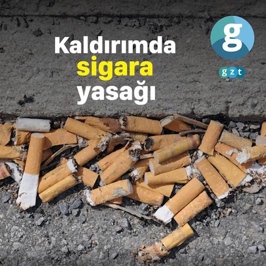 Kaldırımda sigara yasağı