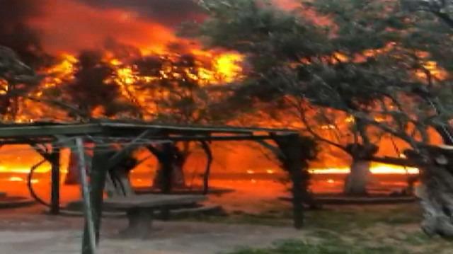 Çanakkale'de turistik otelde yangın çıktı