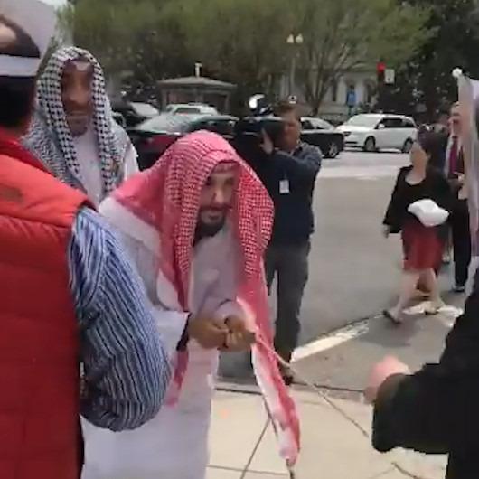 Trump, Washington sokaklarında Arap liderleri 'iple gezdirdi'