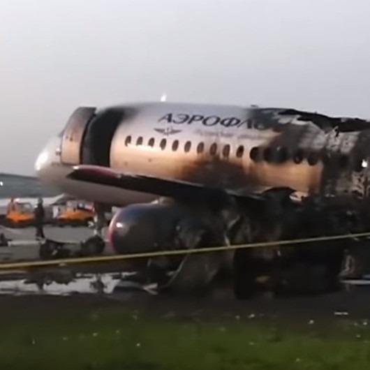 Aeroflot'a ait uçağın yangından sonraki hali görüntülendi