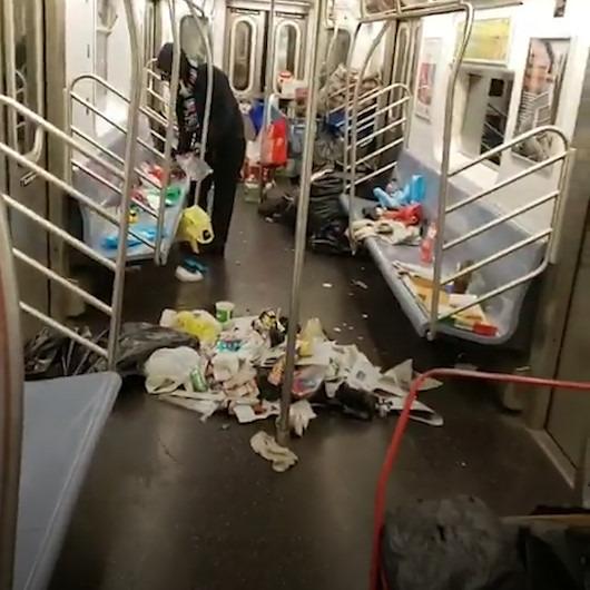 New York'ta metro vagonları çöp yığınlarıyla doldu