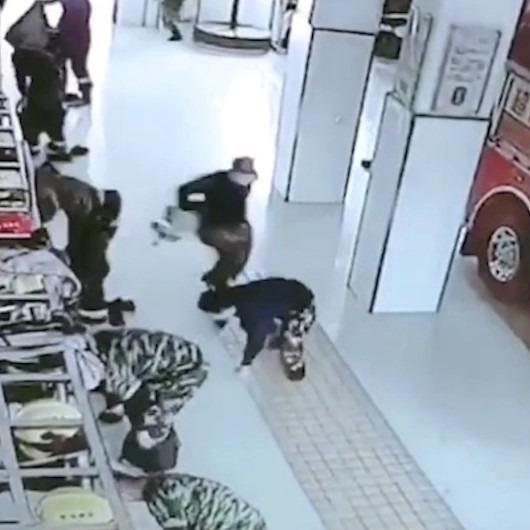Çinli itfaiyecilerin acil bir durumunda ortaya çıkan ilginç görüntüleri