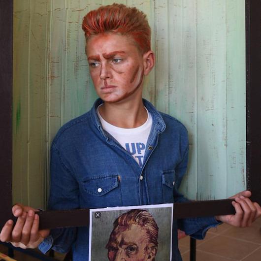 Öğrencileriyle birlikte ünlü tabloları canlandıran öğretmenin muhteşem çalışması