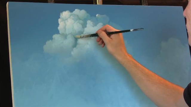 Yağlı Boya Ile Bulut çizimi Nasıl Yapılıyor