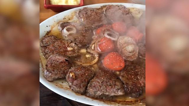 Samsun'dan dehşet bir et gösterisi
