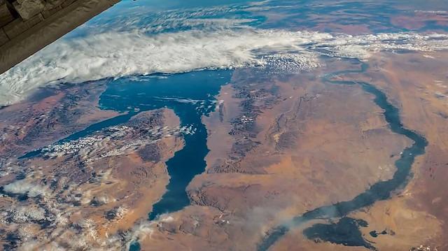 Mısır, Nil nehri ve Kızıl Deniz'in uzaydan gerçek zamanlı görünümü