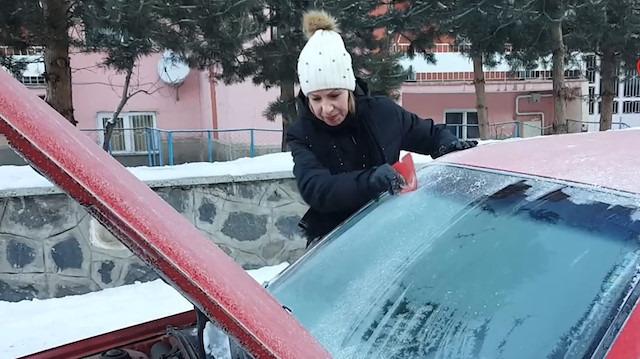 Erzurum resmen buz tuttu! Sıcaklık -15 dereceye düştü