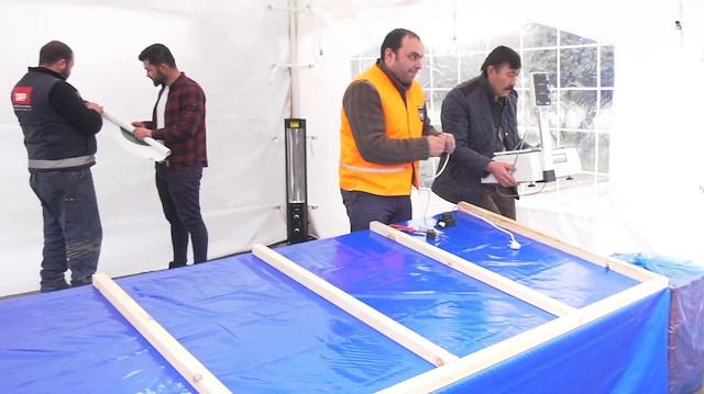 Tanzim 'sebze satış çadırları' müşterileri için hazır