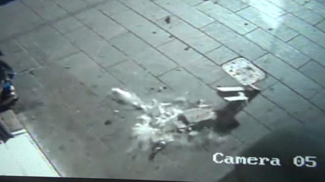 7. kattan düşen mermerden saniyelerle kurtuldu