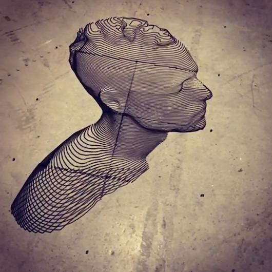3D yazıcı ve 'makine ressamlığı' teknolojilerini kullanarak yapılan ilginç desen