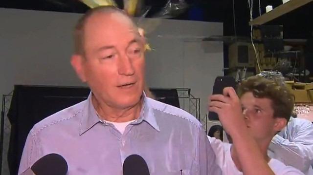 İslam düşmanı ırkçı senatör Fraser Anning'e, yumurtalı protesto