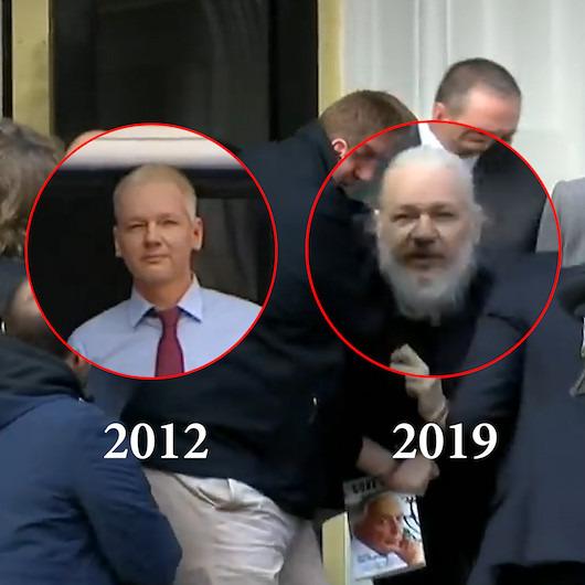 Wikileaks'in kurucusu Julian Assange'ın 7 yıllık değişimi