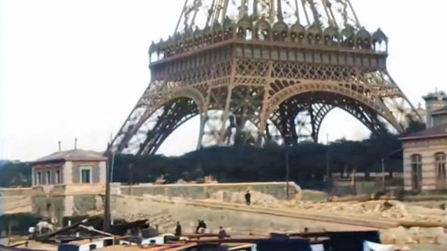 Eyfel Kulesini'nin inşâsından 7 sene sonra çekilen görüntüler