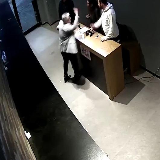 Çalışanlarına 'ayağa kalkmadın' dayağı atan patrona tepki yağdı