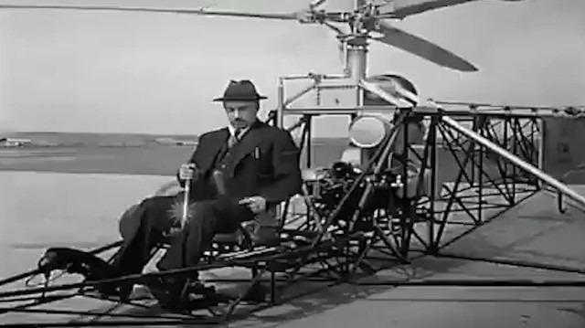 1939 yılında helikopterin mucidi: Igor Sikorsky