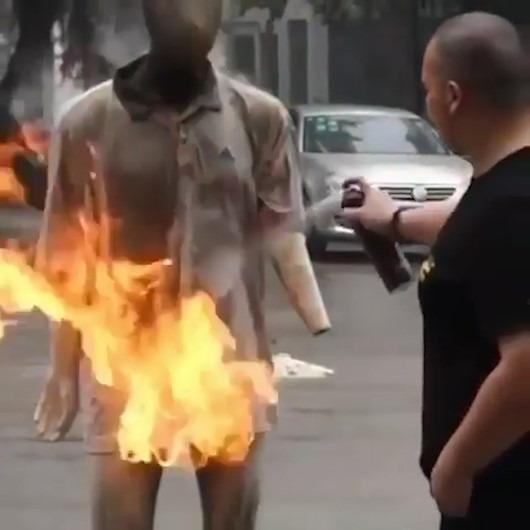 Yangın söndürmede son teknoloji sprey
