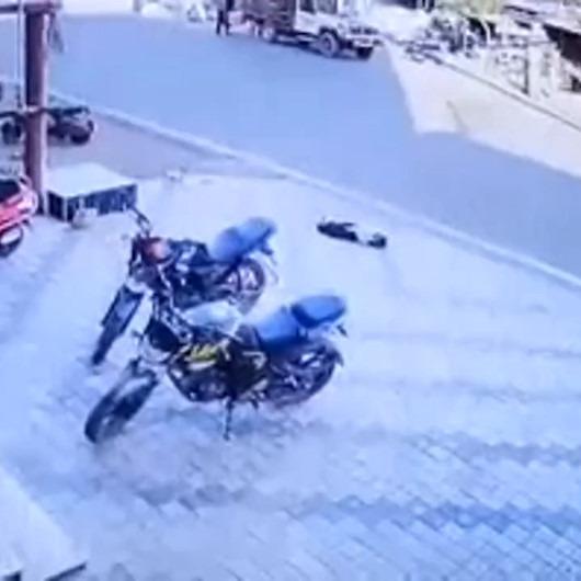 Kazadan yara almadan kurtulan iki şanslı köpek