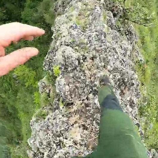 'İzlerken düşeceğiniz görüntüler' çılgın dağcı tarafından kayda alınıyor
