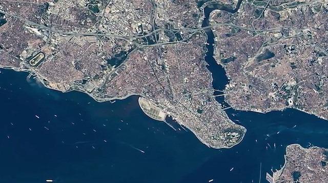 Uluslararası Uzay İstasyonu'ndan İstanbul ve İstanbul Boğazı