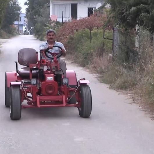 Mersin'de hademelik yapan adam kendi tarım aracını yaptı