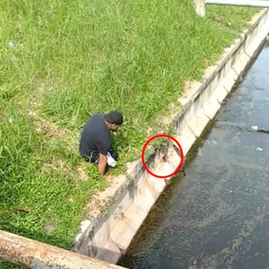 Engelli adamdan insanlık dersi: Kanalizasyonda mahsur kalan yavru kediyi böyle kurtardı