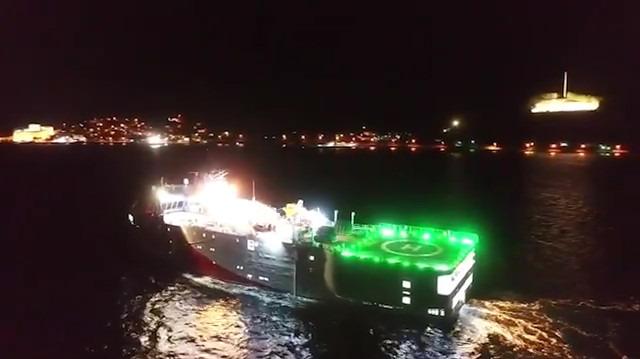 Oruç Reis sismik araştırma gemisi Akdeniz'e indi