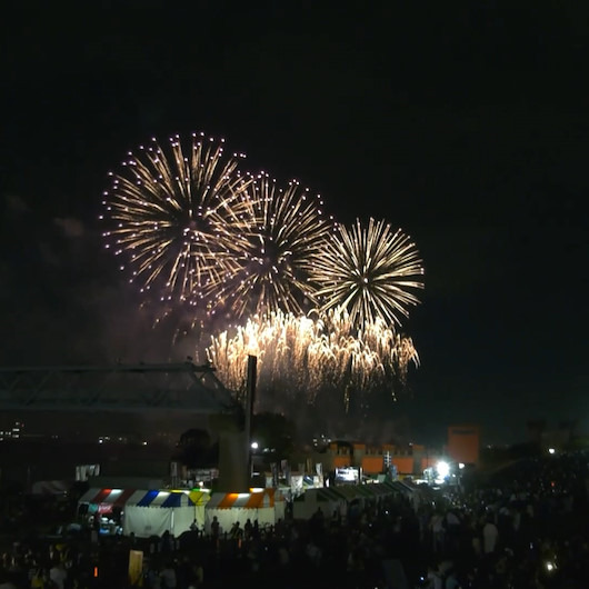 8 bin havai fişeğin patladığı festivalden renkli görüntüler