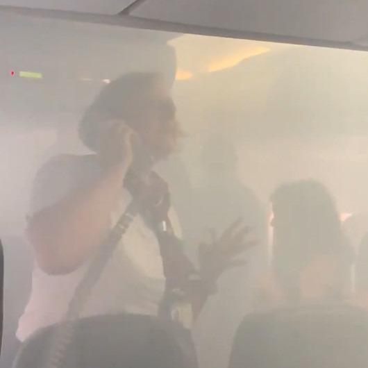 Kabini duman dolan British Airways yolcu uçağında oksijen maskeleri çalışmadı