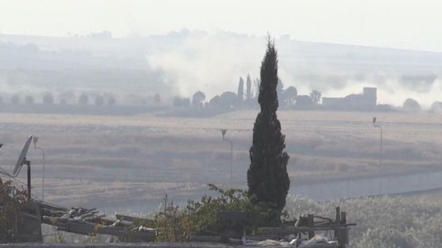 Tel Abyad'ın bazı bölgelerinden yükselen dumanlar