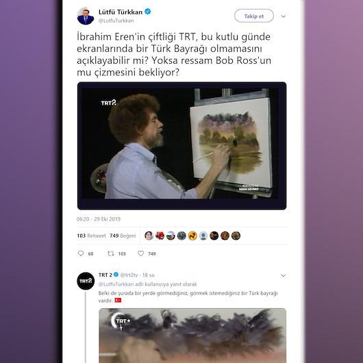 TRT 2'nin Türkkan'a verdiği bayrak cevabı sosyal medyayı salladı