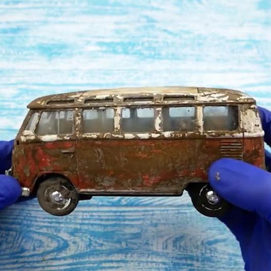 Klasik Volkswagen minibüsün bakım sonrası muhteşem değişimi
