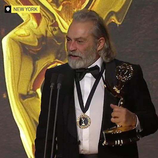 Haluk Bilginer'in 'Emmy' ödül konuşması
