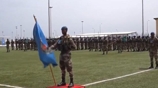 Türk askeri eğitim merkezinden mezun olan Somalili askerlerin teslim töreni