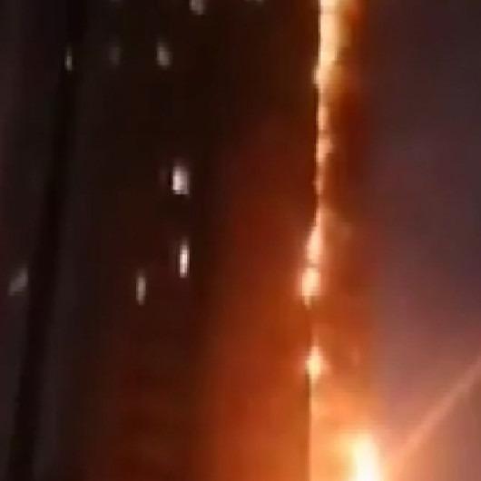 Çin'de 25 katlı apartmanda yangın